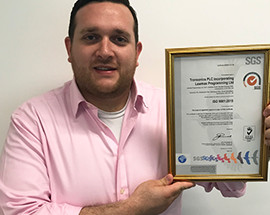 Dedicated to excellence: Transonics PLC secures ISO 9001:2015 certification